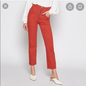 JOIE LAURELLE stacked button jeans